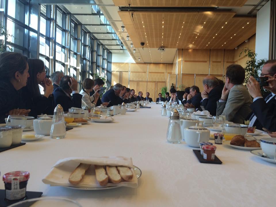 Petit déjeuner de travail avec Bruno Le Maire, Ministre de l'Economie et des Finances