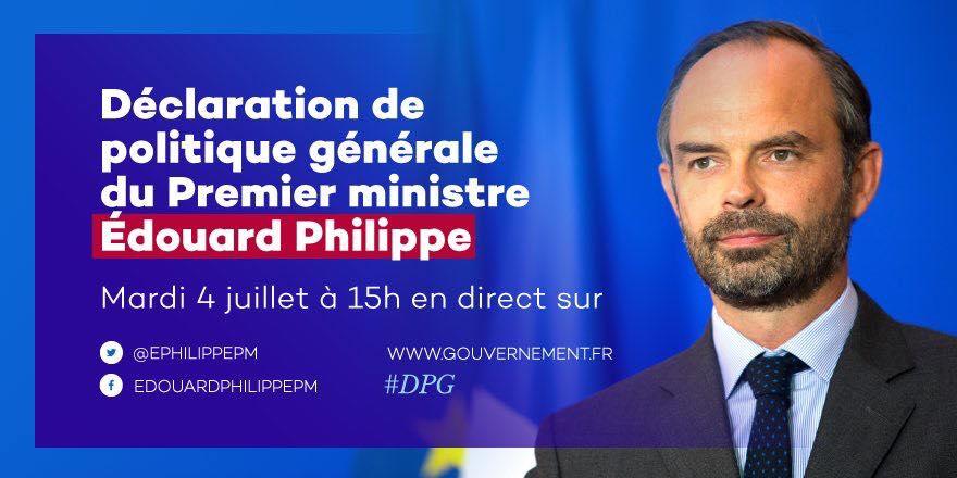 Déclaration de politique générale du Premier ministre, Edouard Philippe